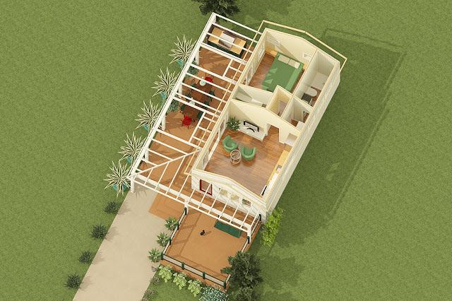 Desain Denah Rumah Ala Amerika Minimalis