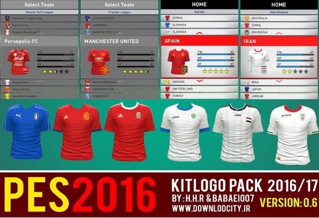PES 2016 KitLogo Pack Season 2016-2017