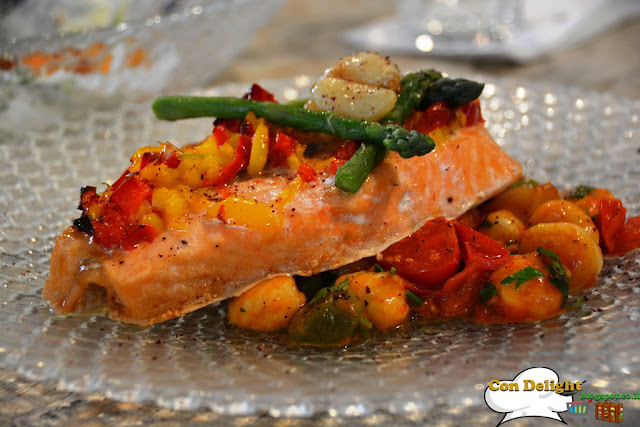 Salmon fillet with gnocchi