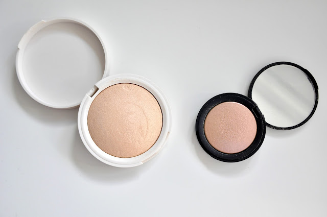 rozświetlacze topshop highlighter crescent moon i topshop cameleon highlighter mother of pearl