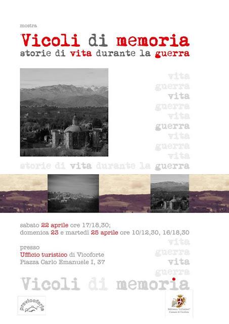 Vicoli di memoria - Mostra per il 25 Aprile 2017 al santuario di Vicoforte Mondovì