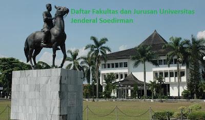 Daftar fakultas, jurusan dan program studi untuk diploma, doktor ,UNSOED Universitas Jenderal Soedirman Terbaru Lengkap Terbaru