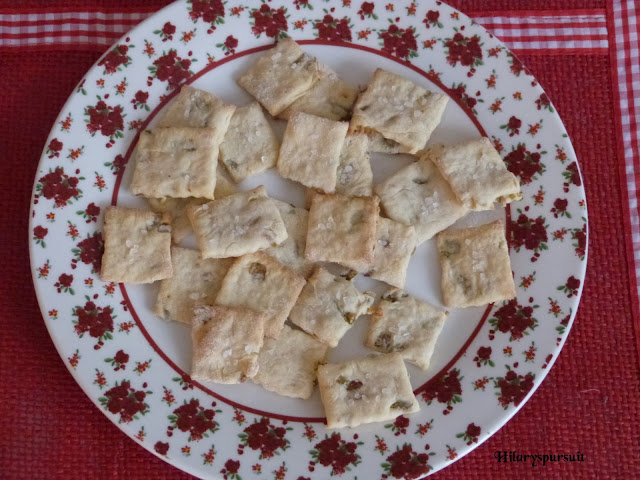 Crackers aux olives vertes
