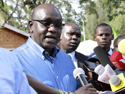 Thirdway Alliance presidential candidate Ekuru Aukot adresses the press at Bomas of Kenya in Nairobi, August 10, 2017. /MONICAH MWANGI