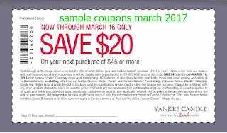 Yankee Candle coupons march
