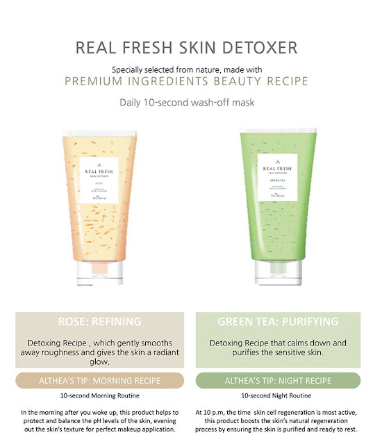 Althea Real Fresh Skin Detoxers rose and Green tea