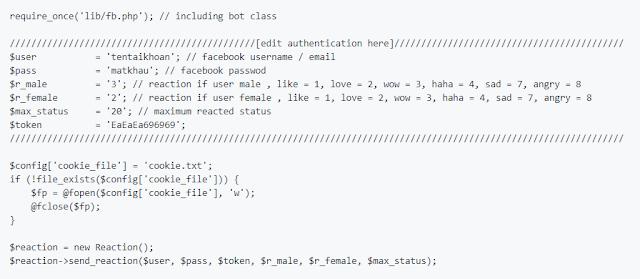 Script Bot Cảm Xúc, Bot Auto Reaction facebook, Facebook Auto Reaction BOT 2018, code bot cảm xúc, cài bot cảm xúc cho facebook, bot cảm xúc