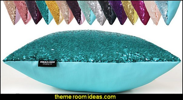Decorative Glitzy Sequin & Comfy Satin Knit Pillow Covers