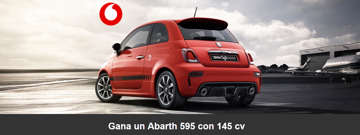 Vodafone Abarth 595 sorteo
