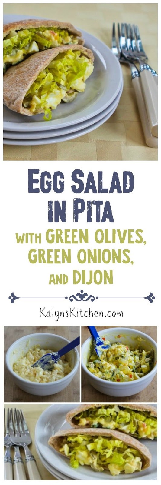 Egg Salad in Pita with Green Olives, Green Onions, and Dijon ...