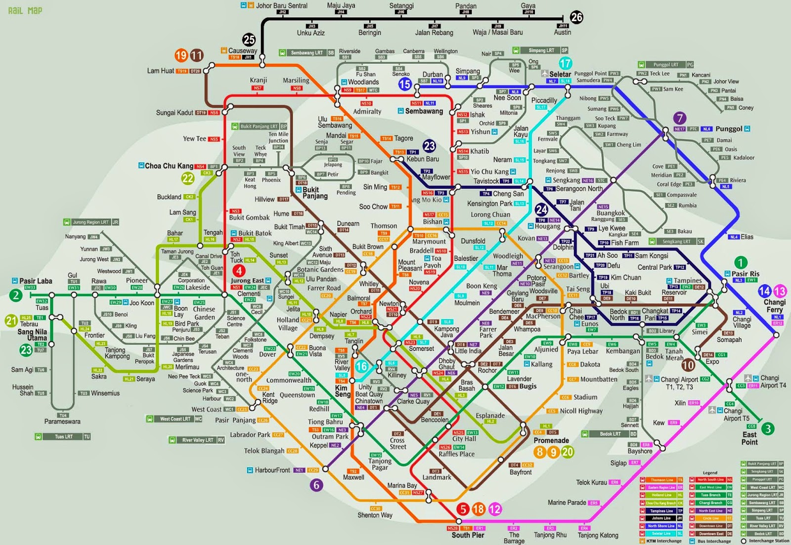 MRT Singapore Maps 2015 & Future Line