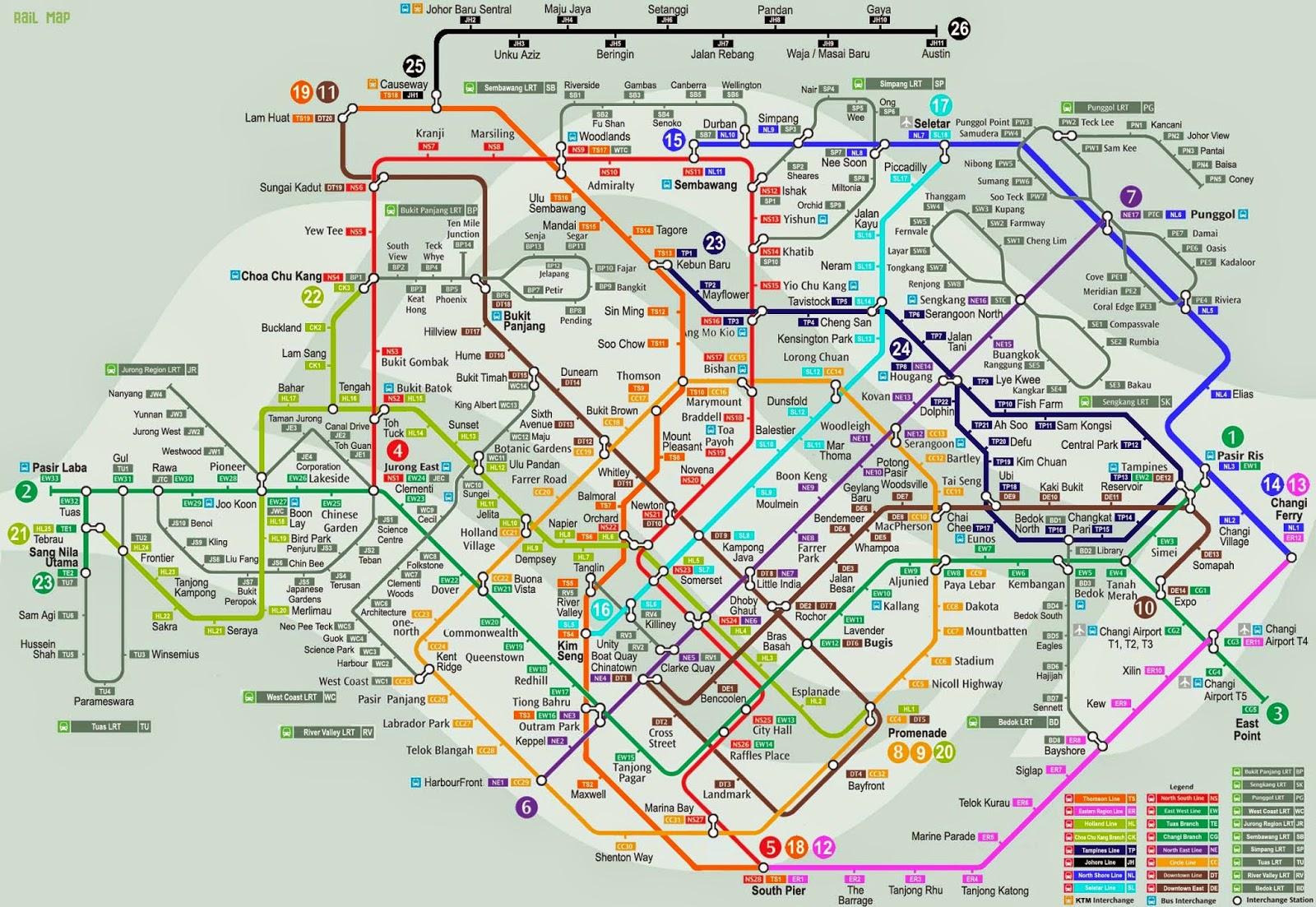 MRT Singapore Maps 2015 & Future Line