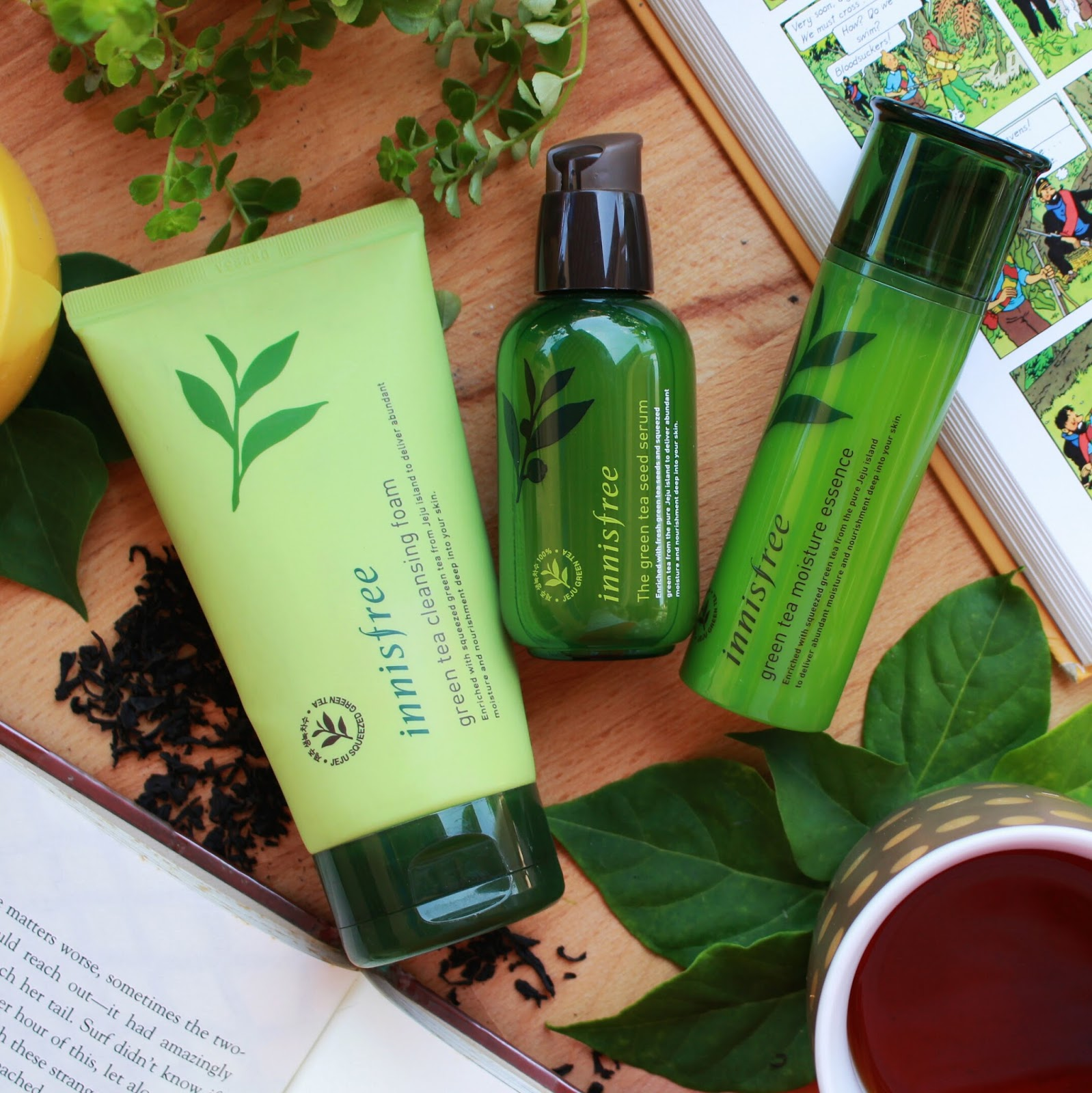5ee47f93fb4 I realized that I ve acquired quite a few products from Innisfree s Green  Tea range