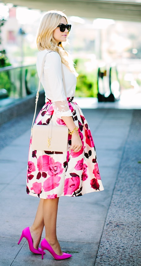Floral-Midi-skirt-outfit-Bmodish