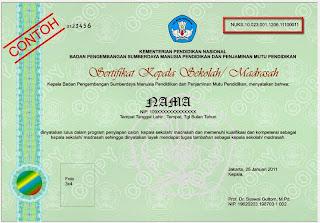Contoh sertifikat kepala sekolah