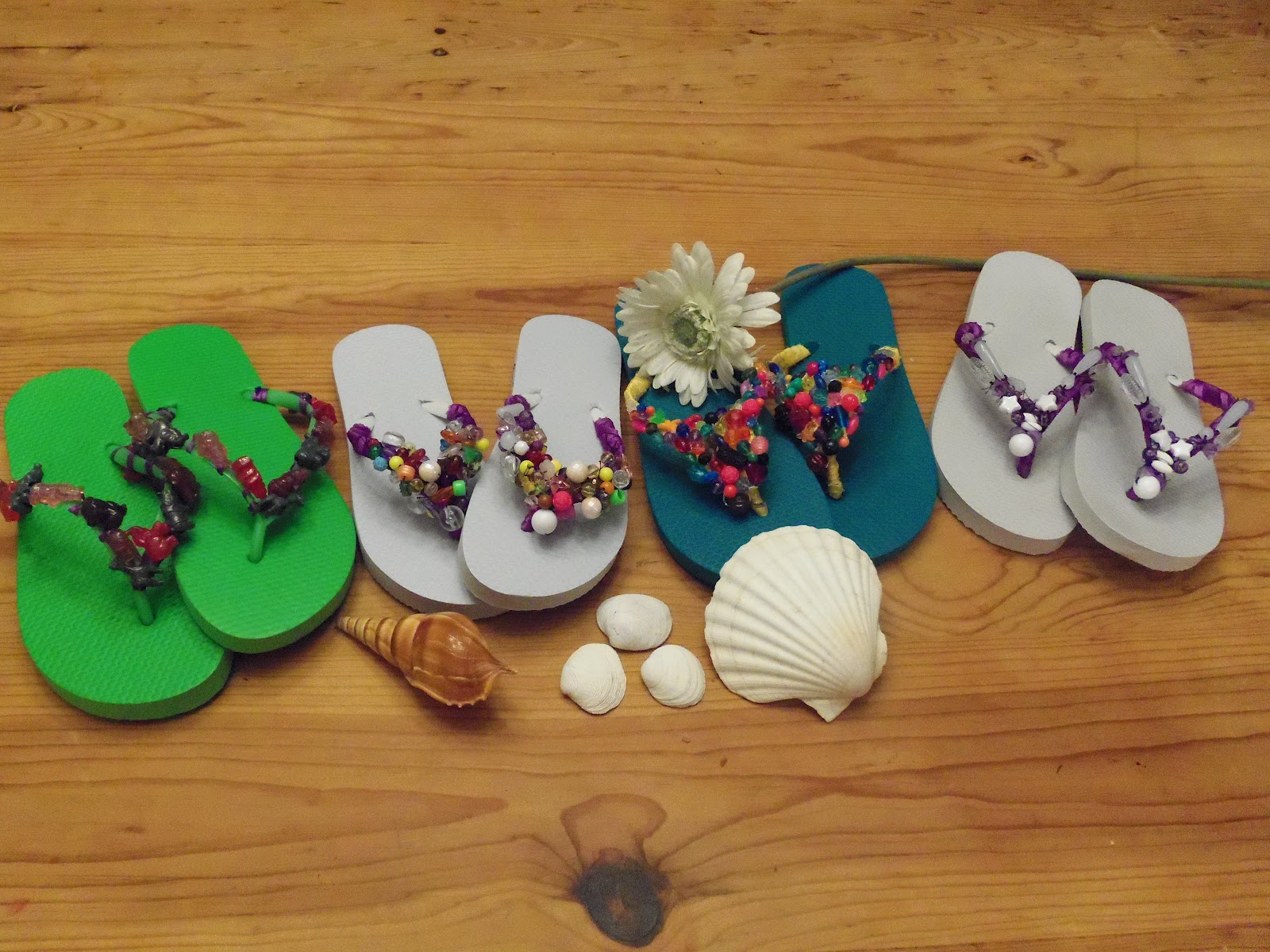d6f9a979a263bf HollysHome Family Life  Decorating Flip Flops With Ribbon and Beads