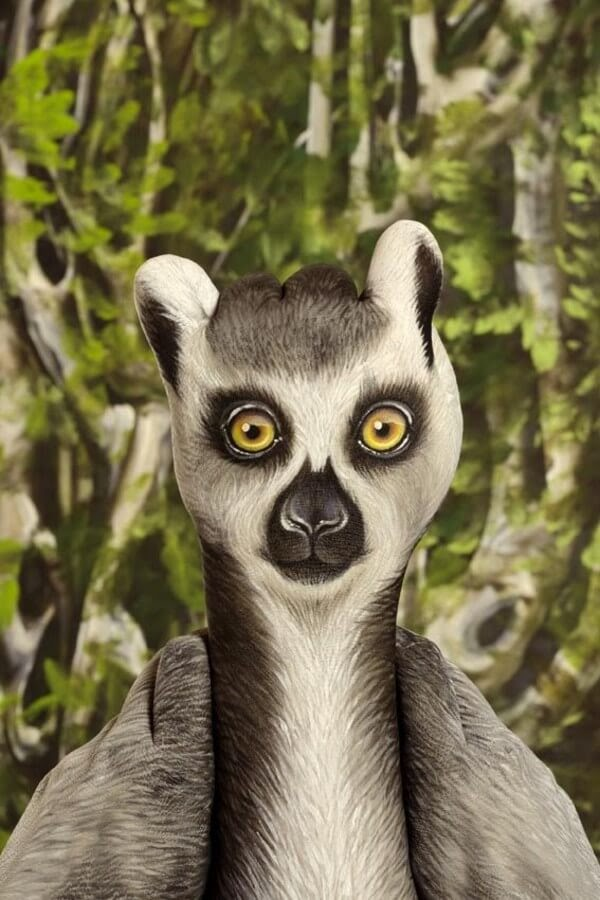 05-Lemur-Catta-Guido-Daniele-Body-Painting-www-designstack-co