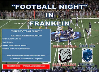 Football Night in Franklin - Grades 2-9 - Sign up NOW