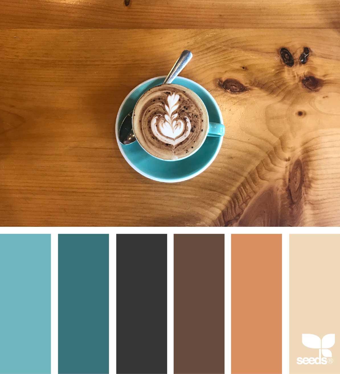 Paleta de Cores para um Café via Design Seeds