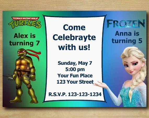 personalised birthday invitations teenage mutant ninja turtles x 5 elipesa com