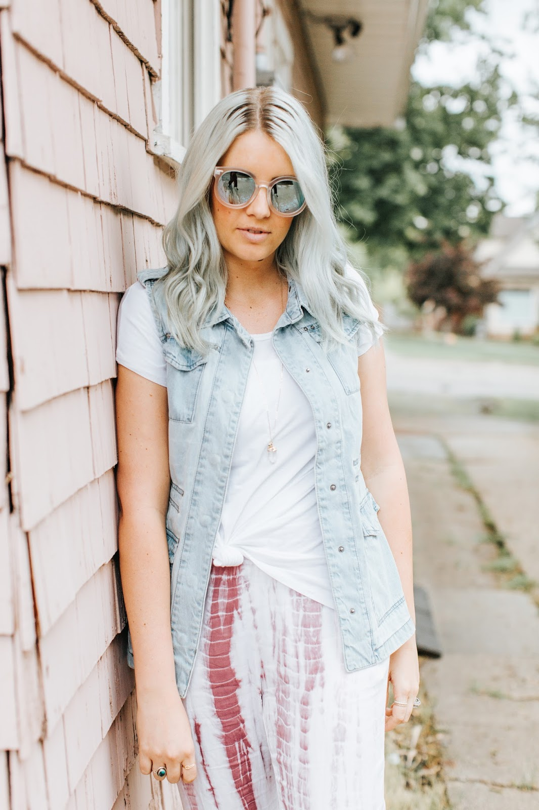 Mint Hair, Modest Outfit, Utah Fashion Blogger