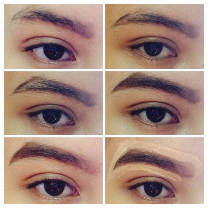 Najlaa 'Aqilah: Basic Eyebrows Shaping and Filling (step ...