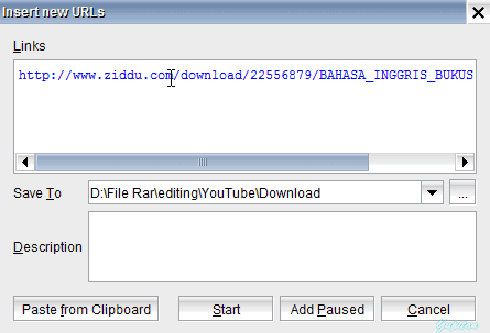 Cara Download Ratusan File Ziddu