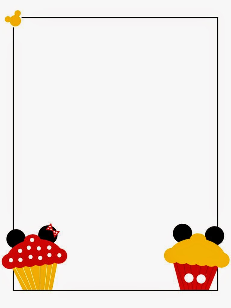 Minnie And Mickey Cupcakes Free Printable Notebook Oh