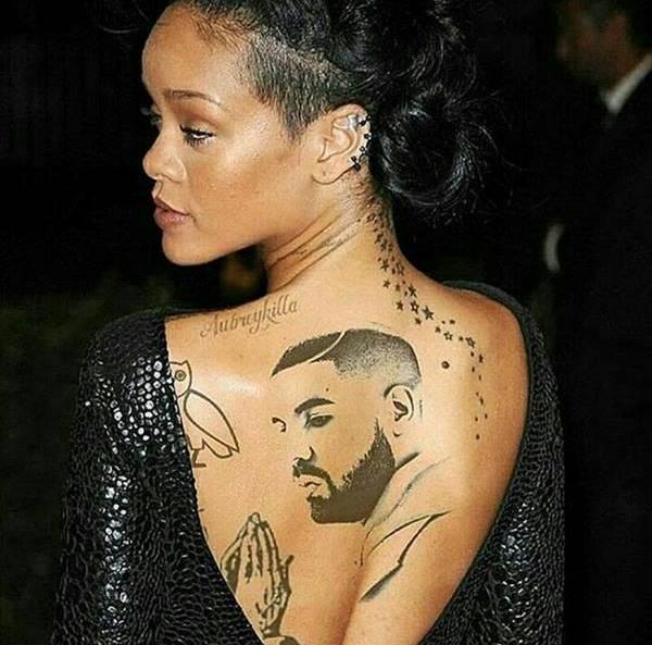 rihana on back