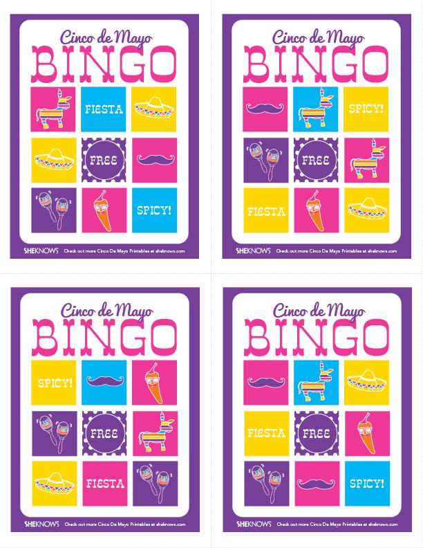 Bingo para imprimir gratis Para Fiesta del 5 de Mayo