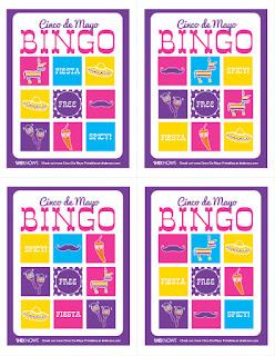 5 de Mayo Free Printable Bingo.