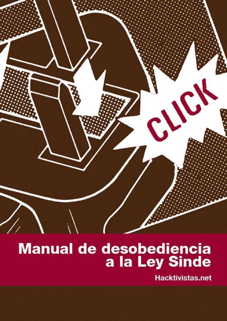 Manual de desobediencia a la Ley Sinde por Hacktivistas