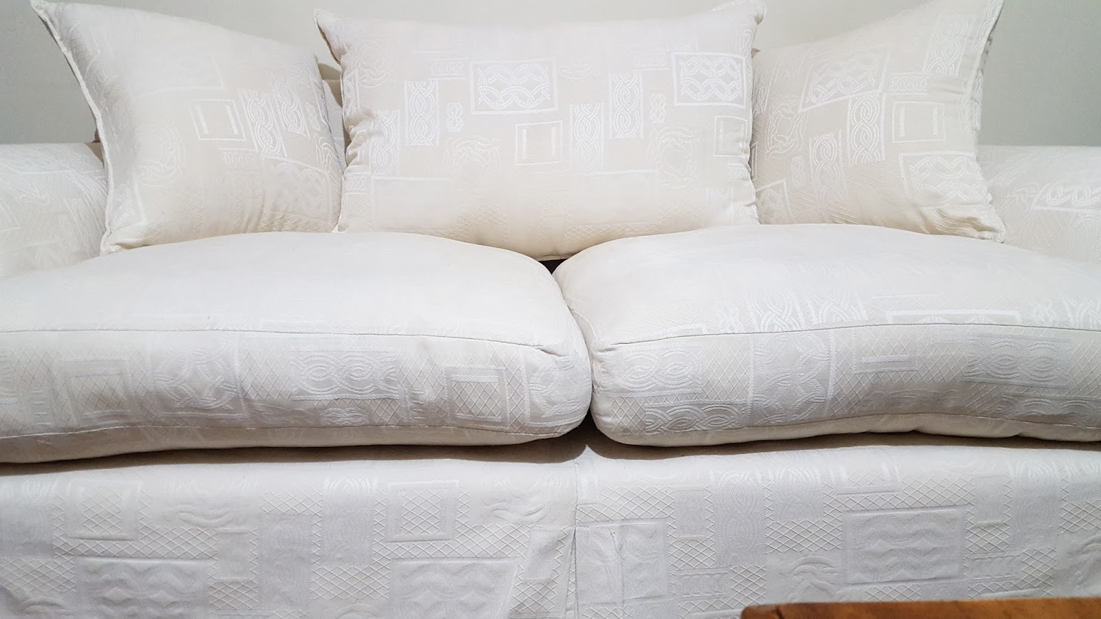 plump white sofa