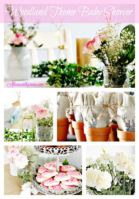 Jemma-athomewithjemma- baby shower-decorating-flowers-woodland