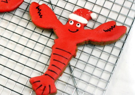 Lobster Santa Cookie