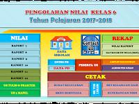 Aplikasi Pengolahan Nilai Kelas 6 SD Tahun 2018