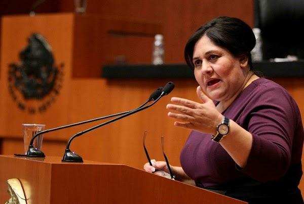 Los partidos no deben donar a los damnificados por el sismo, no es nuestra culpa: Senadora del PRI