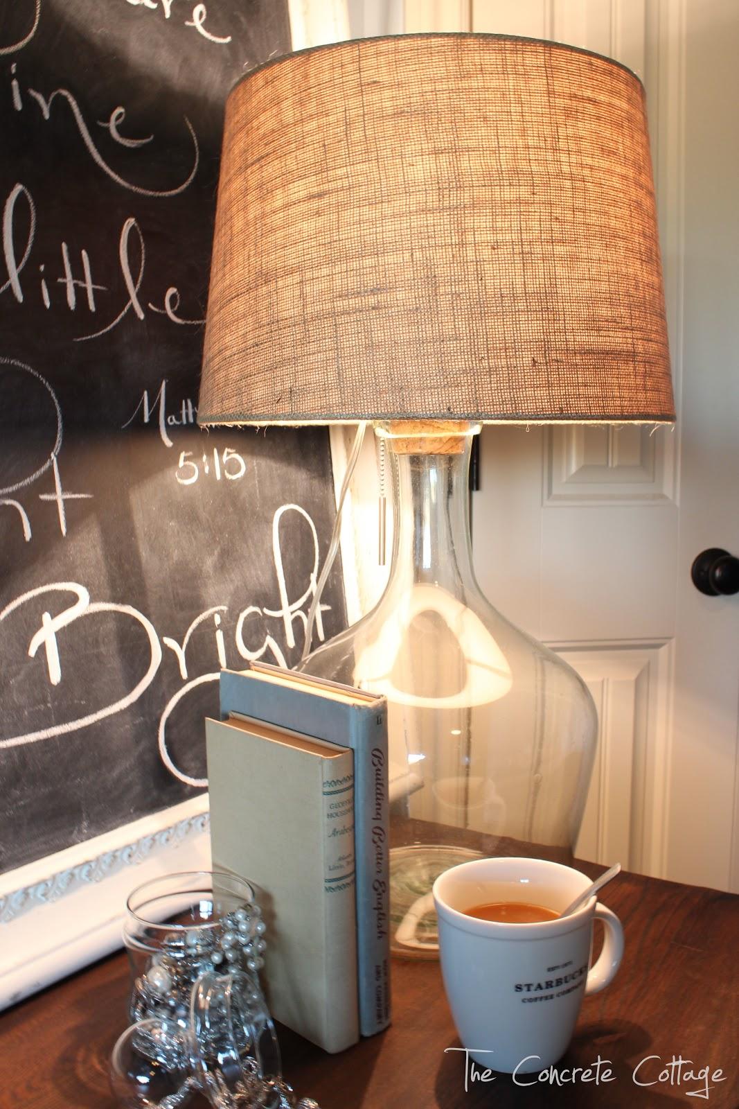 Wonderful The Concrete Cottage: Glass Bottle Lamp ~ DIY Pottery Barn Knock Off FU06