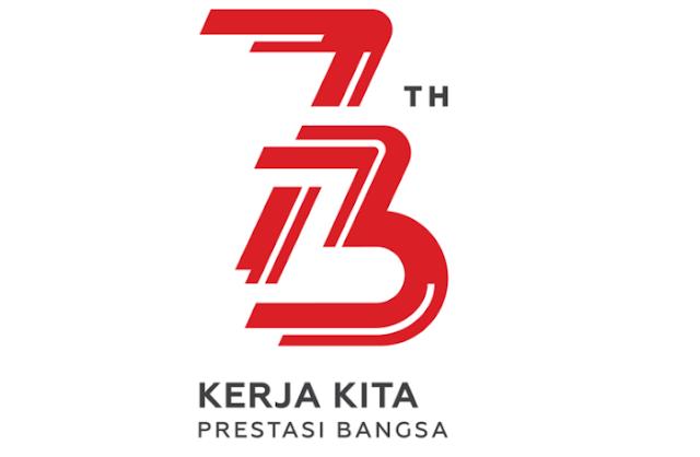 Logo HUT Ke - 73 RI, Bertema Kerja dan Energi