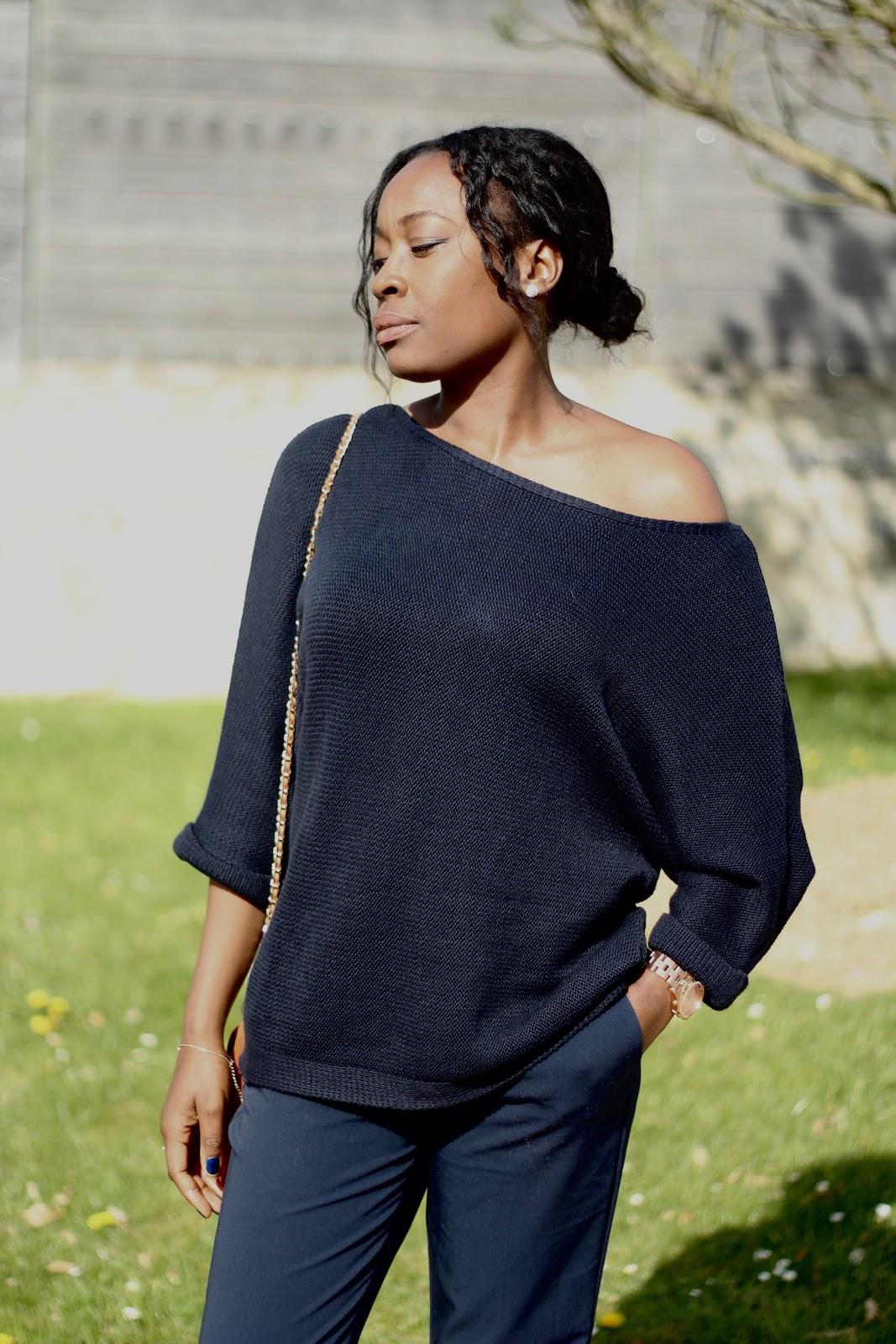 fashion blogger-bleu marine
