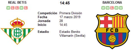 Real Betis vs Barcelona en VIVO