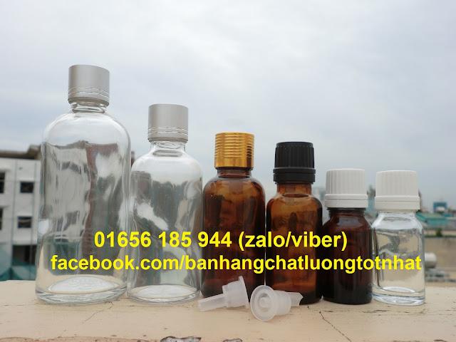 Chai đựng tinh dầu nhỏ giọt các loại rẻ đẹp (chai thủy tinh nhỏ giọt)