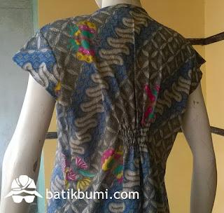 dress batik bahan dobby