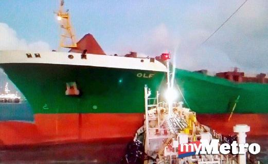 Kes langgar lari kapal TINA 7 dan STRAITS 3, kapal MV OLF berjaya ditahan