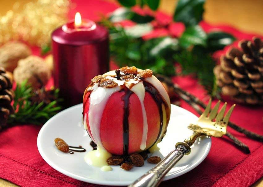 apple-split-makanan penutup-coklat-vanilla-hd