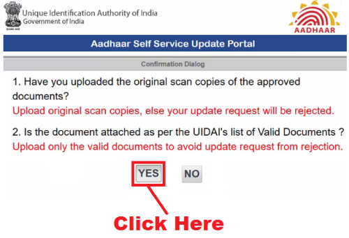 how to change address in aadhar card by online