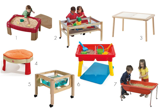 Montessori friendly water/sensory tables