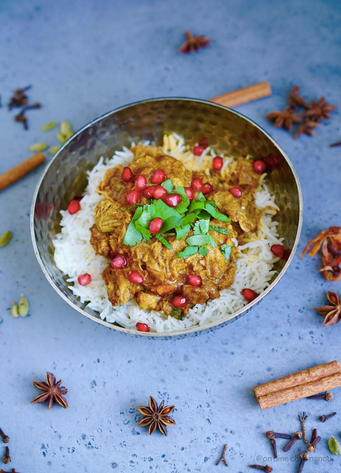 cuisine du cachemire , recette indienne , curcuma , épices , pas piquant