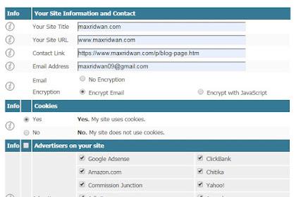 Cara Mudah Dan Cepat Membuat Privacy Policy Dan Disclaimer