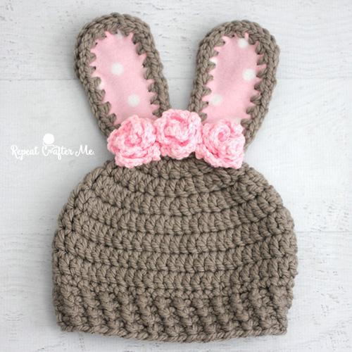 Chunky Bunny Crochet Hat - Free Pattern